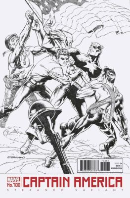Captain America # 700 Steranko Black & White Variant