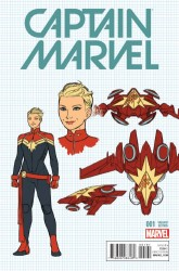 Marvel - Captain Marvel #1 1:20 Anka Design Variant