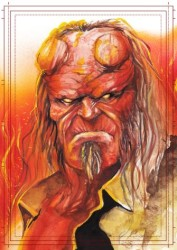 Diğer - Görkem Demir Limited Edition Holo Sketch Card #1 Hellboy