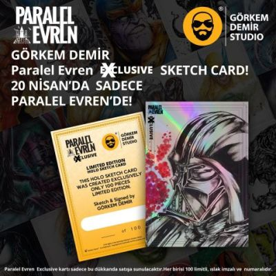 Görkem Demir Paralel Evren Exclusive Holo Sketch Card Darth Vader