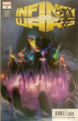 Infinity Wars # 2 Unmasked Secret Variant Gerry Duggan İmzalı Sertifikalı