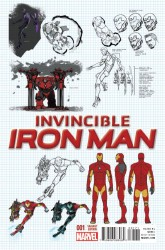 Marvel - Invincible Iron Man # 1 (2015) Marquez Design Variant