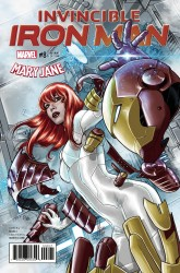 Marvel - Invincible Iron Man # 8 (2016) Checchetto Marry Jane Variant