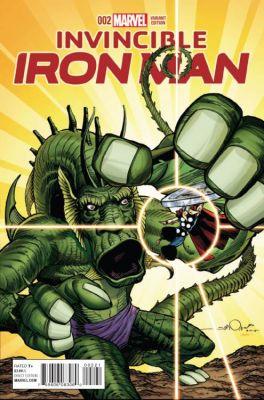 Invincible Iron Man # 2 (2015) Simonson Kirby Monster Variant