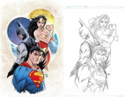 DC - Justice League # 1 Aspen Retailer Variant Regular ve B&W Kapak Set