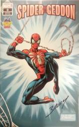 Marvel - Spider-Geddon # 0 Midtown Comics Variant Mark Bagley İmzalı Sertifikalı