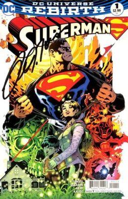 Superman # 1 Patrick Gleason İmzalı Sertifikalı