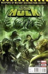 Marvel - Totally Awesome Hulk # 22 Greg Pak İmzalı Sertifikalı