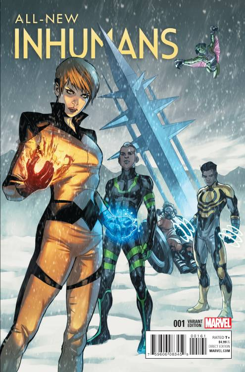 All New Inhumans # 1 Caselli Variant