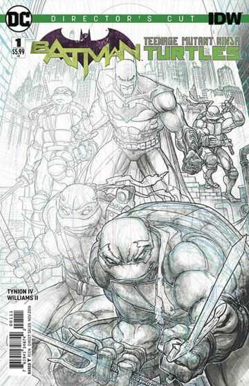 DC - Batman Teenage Mutant Ninja Turtles # 1 Director's Cut