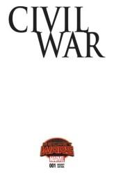 Marvel - Civil War # 1 SWA Blank Variant