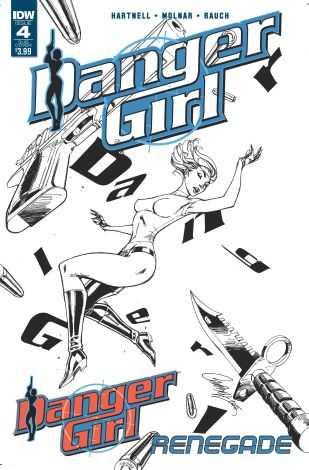 IDW - Danger Girl # 4 J. Scott Campbell Cover Black & White