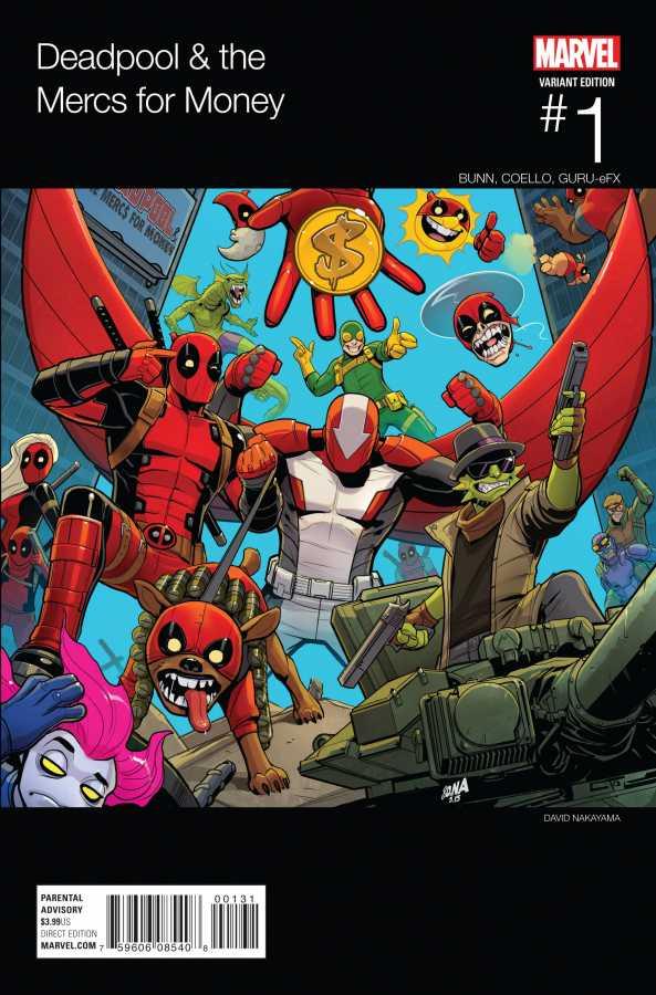 Marvel - Deadpool & The Mercs For Money # 1 (2016 - 2. Series) Nakayama Hip Hop Variant