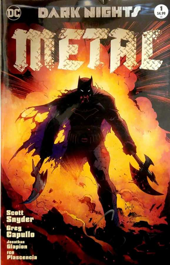 DF Dark Nights Metal # 1 Variant Limitli Scott Snyder İmzalı Sertifikalı