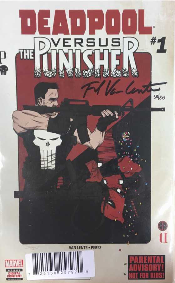 DF Deadpool vs Punisher # 1 Fred Van Lente İmzalı Sertifikalı