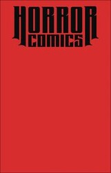 - Horror Comics Sketchbook Red Blank