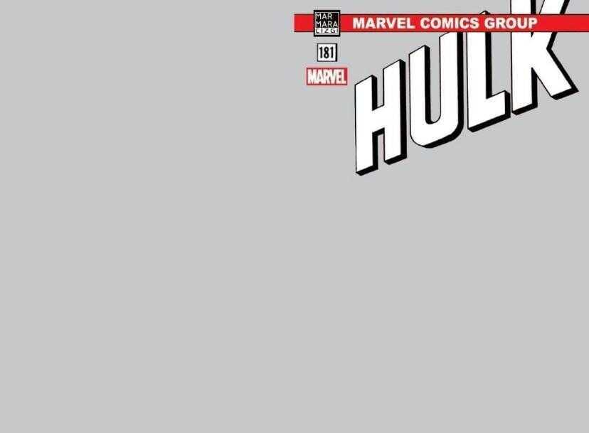 Marmara Çizgi - Hulk # 181 Gri Blank