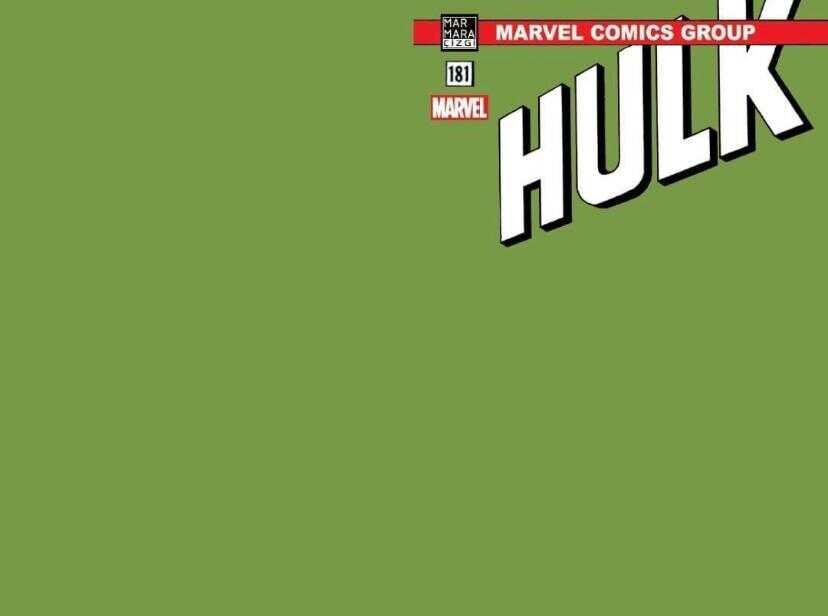 Marmara Çizgi - Hulk # 181 Yeşil Blank