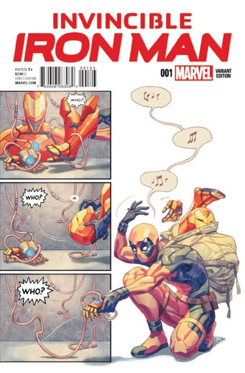 Marvel - Invincible Iron Man # 1 Putri Party Variant