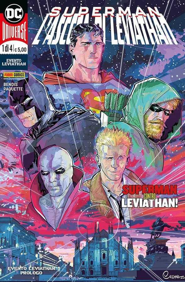 - SUPERMAN RISE OF LEVIATHAN # 1 MATTEO CREMONA PANINI ITALIAN VARIANT