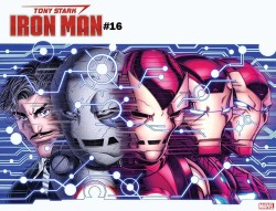 Marvel - Tony Stark Iron Man # 16 Bradshaw Immortal Wraparound Variant